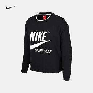 Nike耐克2018年新款女子舒适运动休闲圆领卫衣套头衫AJ7369-010