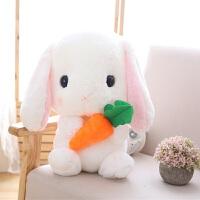 小白兔子毛绒玩具垂耳兔流氓兔抱枕公仔可爱长耳兔布娃娃娃女