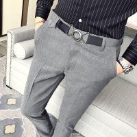 裤男长裤小脚西装裤修身潮流青少年发型师裤子男士小西裤