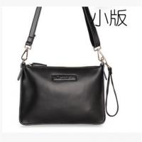 新款夏信封包牛皮女包小包时尚小方包单肩包斜挎跨包真皮女包 黑色 小款