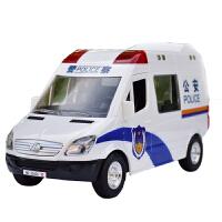 惯性车仿真汽车模型儿童玩具车120救护车模110警车模型