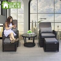 三件套阳台休闲桌椅户外藤椅三件套室内客厅休闲懒人椅欧式小沙发