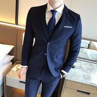 西服套装男新郎伴郎装结婚礼服韩版修身小西装二件套男士套装正装