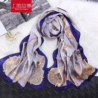 上海故事桑蚕丝围巾女款冬季印花韩版百搭真丝披肩丝巾两用