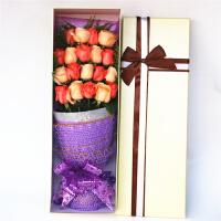 鲜花速递19支玫瑰礼盒鲜花 送爱人 送女友 闺蜜 礼品 鲜花 节日 生日鲜花 北京 上海 广州 武汉 天津 全国同城鲜