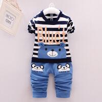 男童秋装套装女宝宝卡通卫衣1-2-3-4-5岁婴儿童装春秋衣服两件套