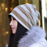 女士帽子时尚潮妈妈韩版时尚休闲百搭化疗帽月子帽