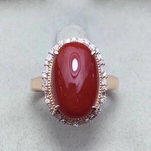 精品纯天然珊瑚戒指