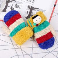 男女款婴儿毛线手套儿童幼儿园保暖冬2-4岁可爱宝宝手套