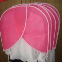 卡秀收纳-半肩衣物防尘衣罩(5个装)粉色
