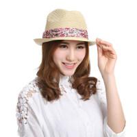 草帽女士韩版遮阳防晒帽潮韩版防紫外线时尚小礼帽子