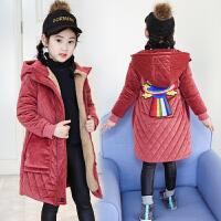 冬装中大童加厚儿童金丝绒棉袄洋气外套童装女童棉衣