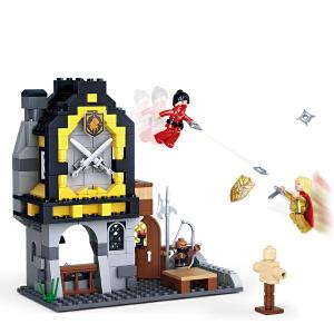 【当当自营】小鲁班刺客传奇系列儿童益智拼装积木玩具 金狮军备库M38-B0615