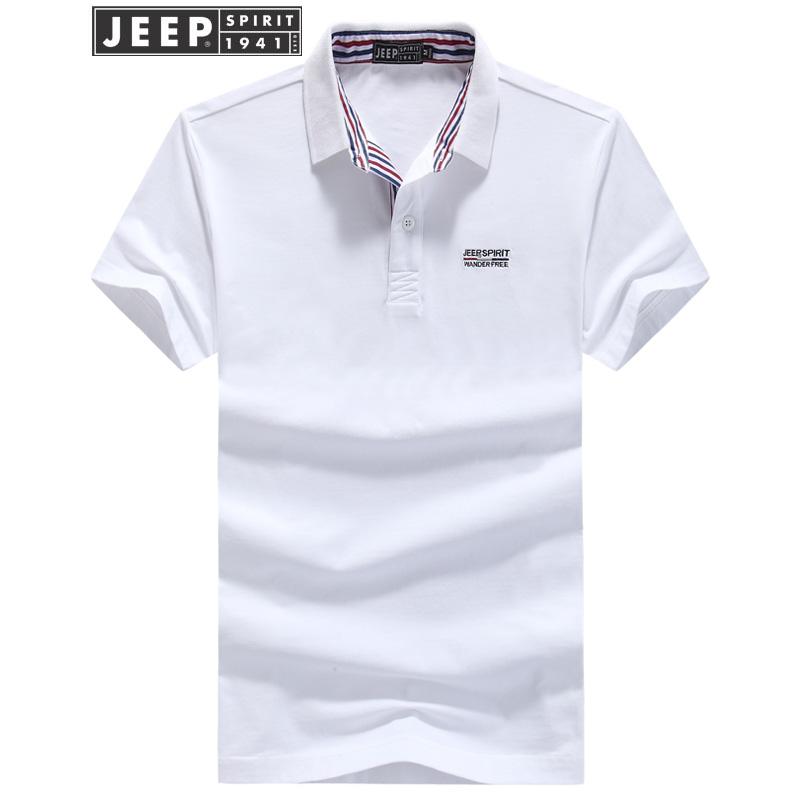 JEEP吉普男士短袖POLO衫男装夏季翻领纯色T恤男士商务休闲纯棉半袖T恤自由奔放的吉普,户外男人装,夏装新上市