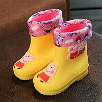 男童女童儿童雨鞋防滑加绒宝宝雨靴卡通小孩水鞋幼儿宝宝小童水靴 25内长 15cm