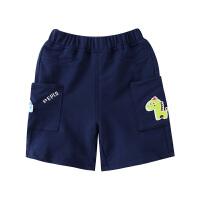 【3件3折到手价:46】小猪班纳童装男童短裤卡通印花纯棉2020春夏新款儿童五分裤休闲