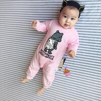 婴儿连体衣服春装宝宝新生儿0岁9月春季春内衣外出服新年