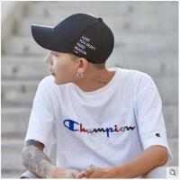 新款帽子男秋天鸭舌帽韩版潮青年街头休闲字母棒球帽街舞嘻哈帽