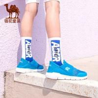 骆驼童鞋男童运动鞋夏季新款儿童魔术贴透气网鞋女童防臭跑步鞋子