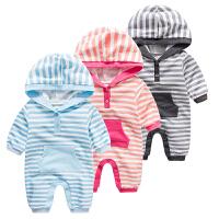 宝宝婴儿连体衣1岁9个月季新生儿睡衣长袖休闲哈衣爬爬服款