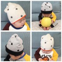 宝宝帽子秋冬纯棉男女婴儿帽0-3-6个月1新生儿胎帽保暖9儿童帽潮2