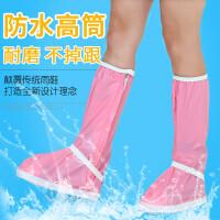高筒防水鞋套雨天防雨鞋套防滑加厚耐磨成人短款包边户外鞋套