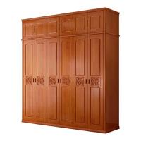 实木衣柜2门3门4门5门6门中式橡木大衣橱卧室四门五门储物柜家具