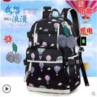 双肩包女韩版时尚休闲书包中学生书包旅行背包学院风潮流女包