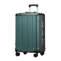 同款拉杆箱行礼箱万向轮皮箱男密码箱直角行李女箱韩版大容量 森绿色 终身换件
