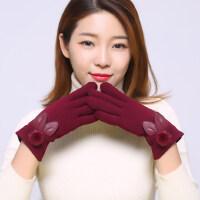 保暖手套女士户外骑行韩版加绒加厚触屏手套户外开车骑车