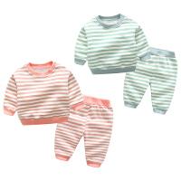 婴儿秋冬季儿童睡衣女童女孩男童套装小孩宝宝打底衫加绒加厚款
