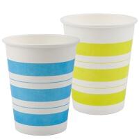 得力9560一次性经济纸杯50只装加厚家用办公室水杯商务杯250ml