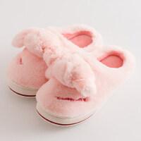 韩版厚底室内防滑棉拖家用棉拖鞋女士加厚毛绒家居保暖拖鞋