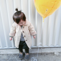 允儿妈童装17秋冬装韩版女童宝宝仿皮草外套中长款婴幼儿儿童棉衣
