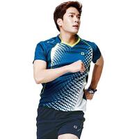 羽毛球服套装女款男夏速干透气2018V领网球服韩国运动训练服