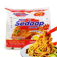 印尼进口 喜达牌sedaap 捞面 455g(91gx5包 )袋装 多种口味可选 方便面干拌面宵夜午餐面