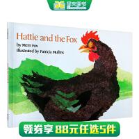 美国图书馆协会推荐图书 Hattie and the Fox 哈蒂和狐狸 廖彩杏推荐让重复句当家 大声朗读 英文原版绘本 送音频