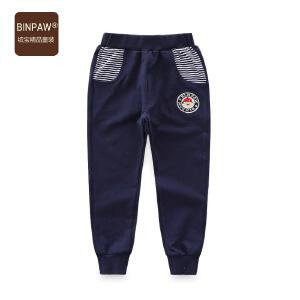 【3件2折价:48元】binpaw童装男童运动裤 2019秋新款韩版男童休闲裤外穿长裤