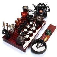 尚帝 宜兴紫砂茶具套装 实木茶盘加水电热壶 Z-4KWCBS2
