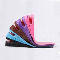 靴之侣增高鞋垫男女士式内增高 气垫隐形舒适防臭全垫可调节3/5厘米紫色2层增高
