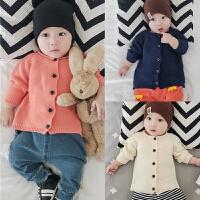 婴儿毛衣宝宝上衣春秋开衫长袖满月周岁3-6-9-12个月针织衣外出服