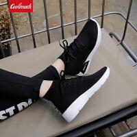 【新春惊喜价】Coolmuch女士轻便缓震弹力透气校园女生运动休闲袜子鞋MX8080