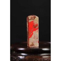 昌化鸡血石印章料 高6.5cm