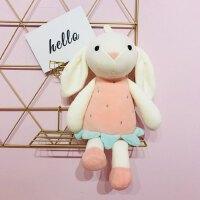 女生可爱萌兔子毛绒玩具萌韩国粉红猪玩偶娃娃公仔可爱睡觉抱女孩