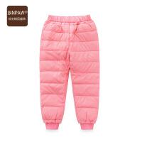 【3件2折价:26元】缤宝家儿童羽绒裤 冬季新款经典纯色休闲儿童白鸭绒羽绒长裤