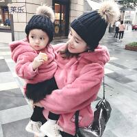 婴儿亲子装卫衣秋冬装新款潮全家装母女装一家家庭装外套子