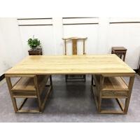 新中式实木书桌书房办公桌画桌仿古老板桌中医馆写字台书法桌画案 1.8米桌+(运费到付) 否