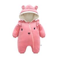 婴儿冬装新生儿外出抱衣服秋冬季男女宝宝加厚保暖哈衣爬服连体衣