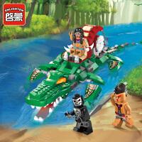 一号玩具 启蒙乐高式积木拼装积木玩具儿童益智玩具拼插小颗粒模型海盗系列1310