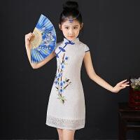 女童旗袍夏儿童唐装中国风童装连衣裙宝宝小女孩公主裙